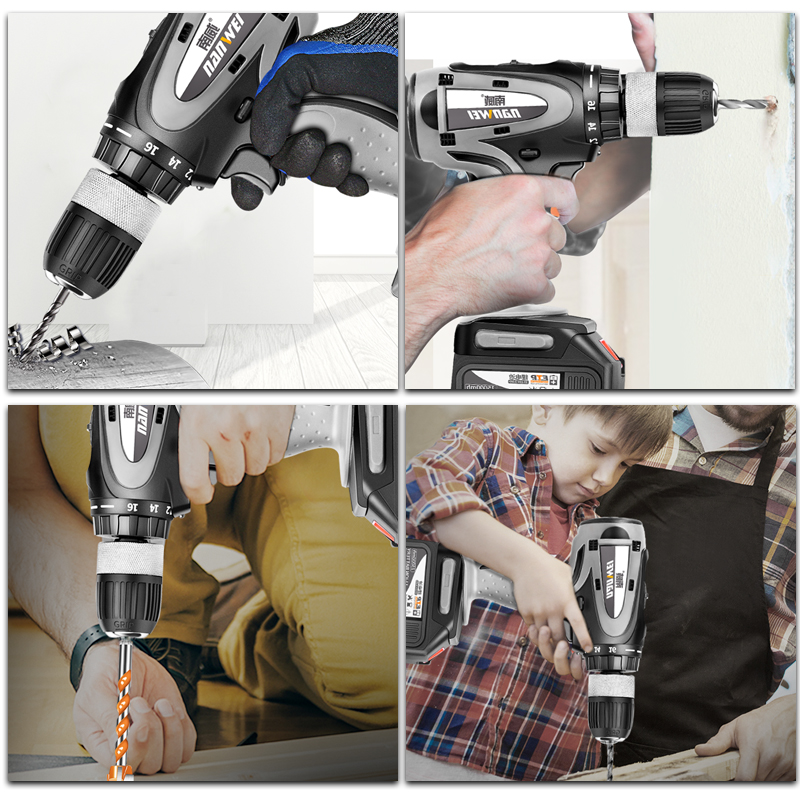 home improvement : Screwdriver Electric Drill Tool Mini Battery Tools Drill Power Machine Electric For Cordless Drills