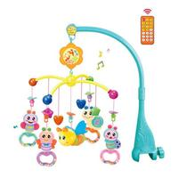 Music Rotating Projection Bed Hanging Rattles Toy for Baby Infant