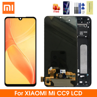 Super AMOLED For Xiaomi Mi 9 Lite LCD Display Touch Screen Digitizer Assembly For Xiaomi Mi 9 CC9 Display With Frame Repair Part