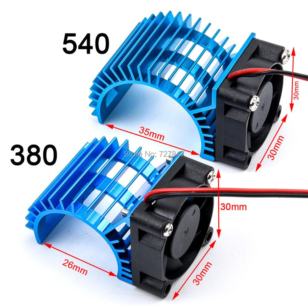 Electric RC Car 380 / <font><b>540</b></font> Electric <font><b>Motor</b></font> Stock Proof Cover Heat Sink Cooling <font><b>Fan</b></font> Suit for All 1/8 1/10 Model Cars RC Parts image
