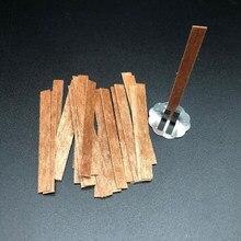 10 Uds de madera mecha para velas con Sustentador Tab Wick Core DIY fabricación de velas suministros Parffin cera accesorios hecho a mano artesanía 9 estilo