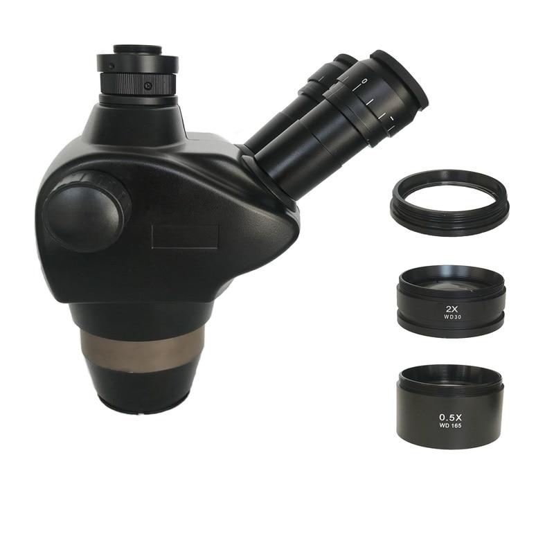 8X 50X سيميول البؤري ثلاثي العينيات ستيريو مجهر تكبير WF10X/22 العدسة 0.5X 2.0X عدسات موضوعية مجوهرات الهاتف PCB أدوات إصلاحميكروسكوب   -