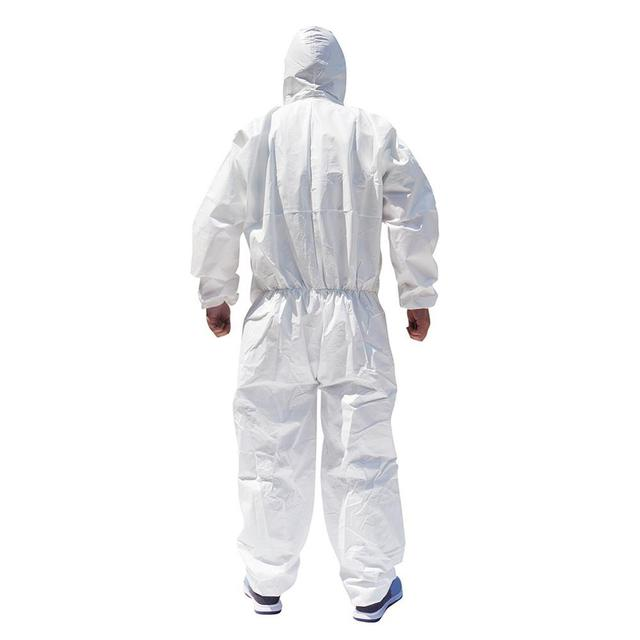 1PCS Disposable Isolation Suit Protective Clothing Dust-Proof Coveralls Safety Full Body Cover Clothes Suit protection ppe suit 2