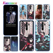 Transparent Soft TPU Cover Anime Japanese attack on Titan For Xiaomi Redmi Note