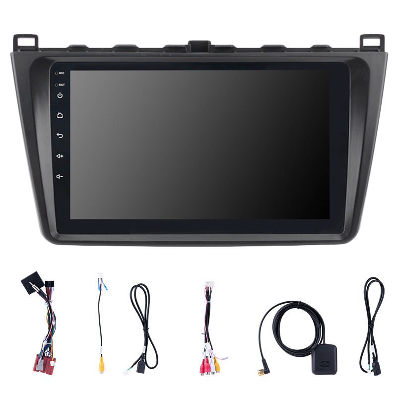 Android 8.1 9 Inch 2DIN WIFI Bluetooth <font><b>GPS</b></font> <font><b>Navigation</b></font> Car Radio Multimedia Player Fit for 2008-2015 <font><b>Mazda</b></font> <font><b>6</b></font> Rui Wing image