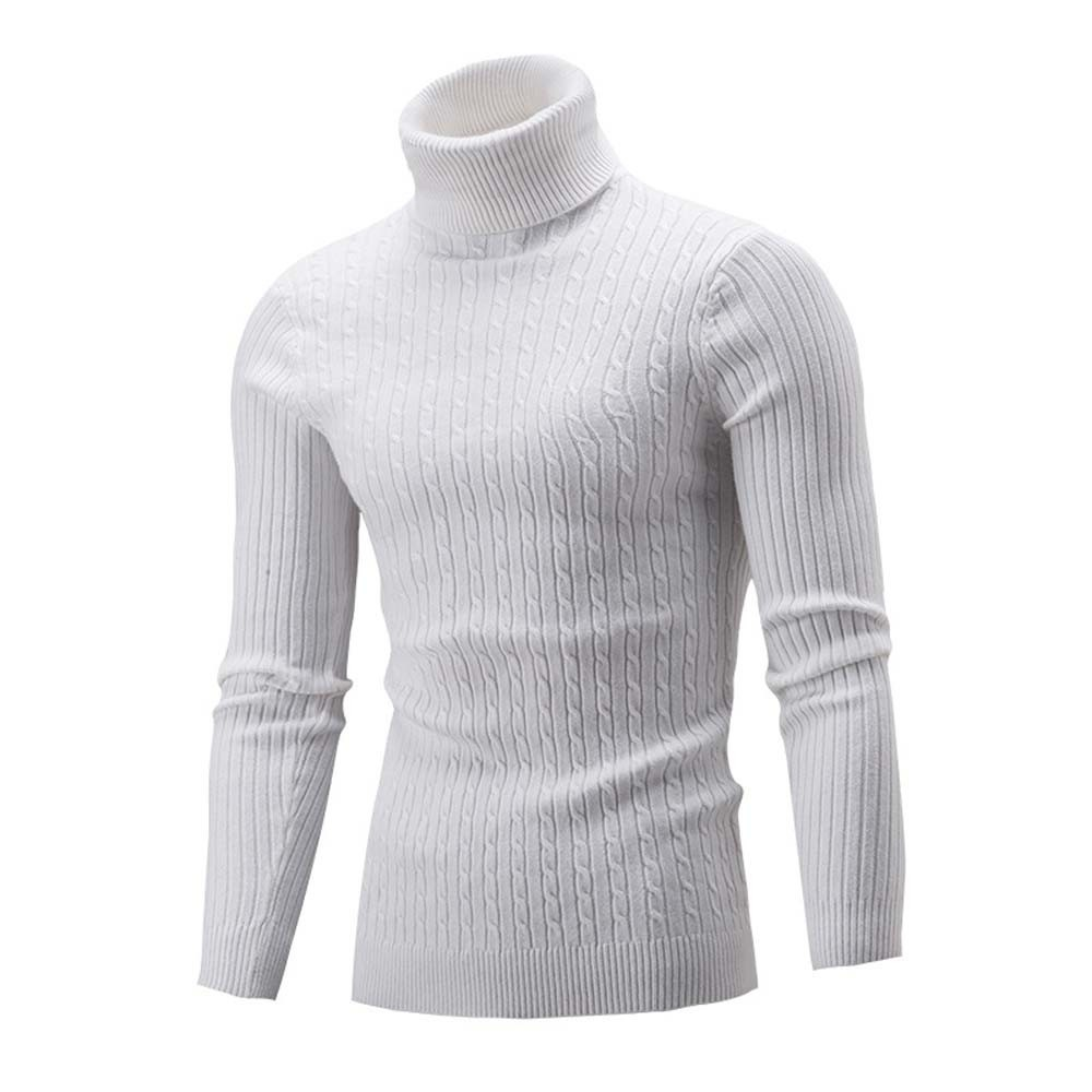 Men Slim Warm Knit High Neck Pullover Jumper Sweater Turtleneck Top M-5XL Plus Size Autumn Winter Pull Homme Sueter Hombre