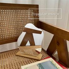 Simple Irregular Mirror Home Desktop Makeup Mirror Acrylic Decoration Standing Mirror