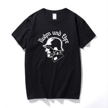 Ruhm und Ehre camiseta Wehrmacht WW2 Deutschland Reichsadler Neu schwarz männer sommer kurzarm T-shirt T-shirt