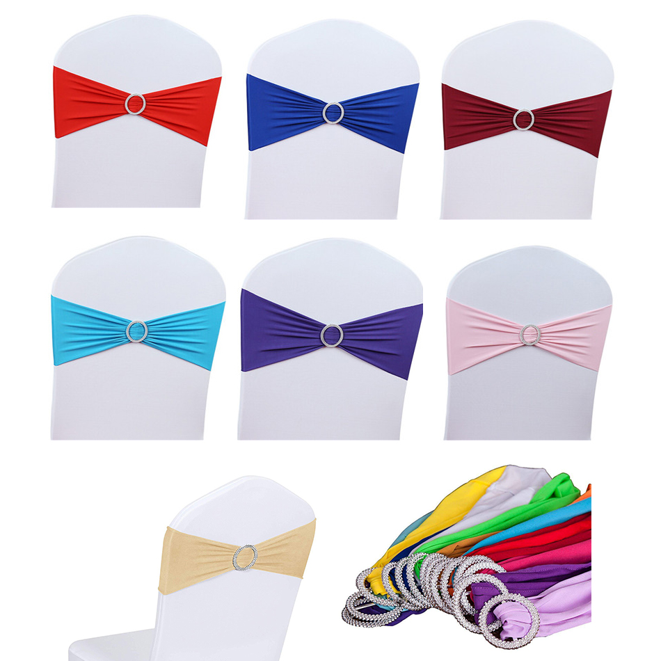 New 12Pcs High Quality Chair Sashes Wedding Chair Knot Cover Decoration Chairs Bow Tie Band Belt Ties For Weddings Party Cover