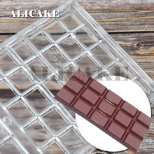 4 Cavity Polycarbonate Chocolate Mould Thick Tray Form for Chocolate Bar Shape Molds Trays Baking Bakery Mold Pastry Tools