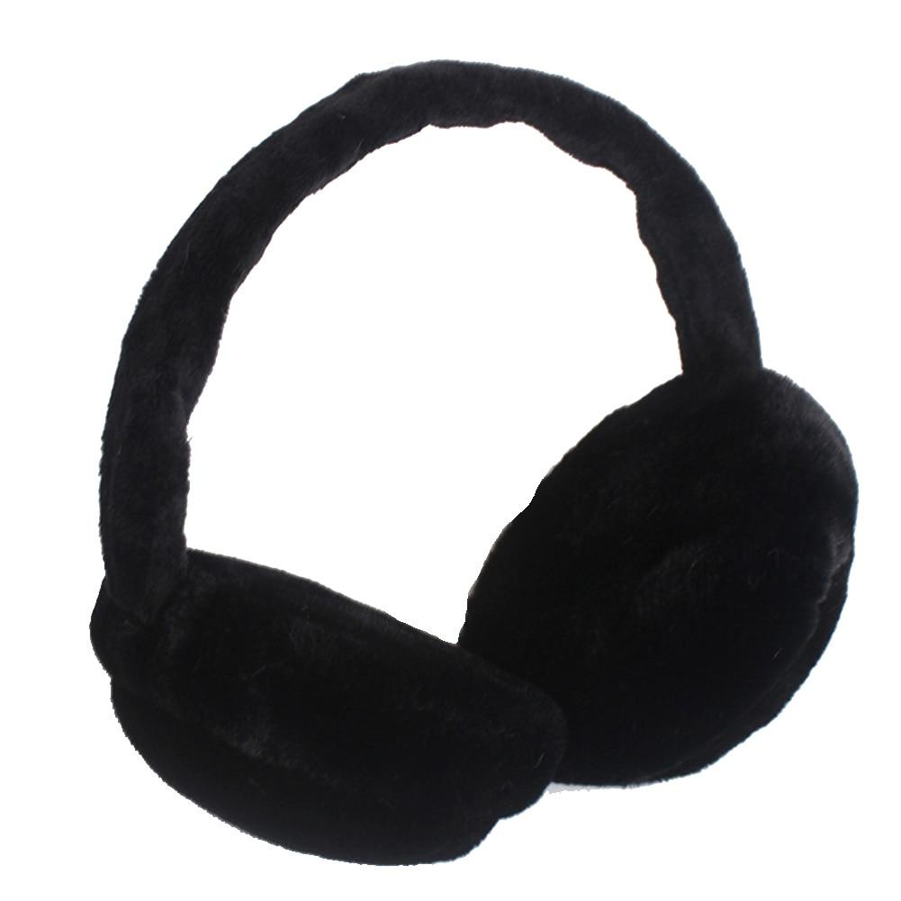 Women Earlap Foldable Faux Fur Headband Winter Ear Warmer Earmuffs Full Surround Protector Adjustable