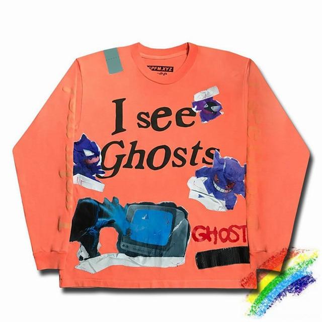 Kanye & KiD CuDi  Lucky Me KIDS SEE GHOSTS Sweatshirt Crewneck Hoodie 1