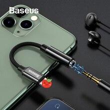 Baseus AUX الصوت محول كابل ل آيفون 11 برو ماكس XS Xr X 8 7 Plus محول OTG محول ل البرق إلى 3.5 مللي متر جاك سماعة