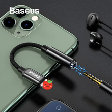 Baseus cabo adaptador de áudio, adaptador e conversor otg para iphone 11 pro max xs xr x 8 7 plus relâmpago para fone de ouvido jack de 3.5mm