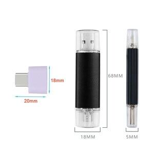 Image 5 - Custom LOGO Metal Multicolor OTG USB Flash Drive Pen Drive 4gb 8gb 16gb 32gb 64gb Pendrive 3 in 1 Stick for Smart Phone/PC Gifts