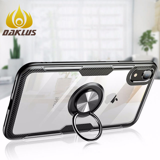 Luxury Bumper Case For Iphone X Silicone Case For Iphone XS XR XS Max 6 6S 7 8 Plus 11 Pro Max Armor Case With Magnetic Car Ring