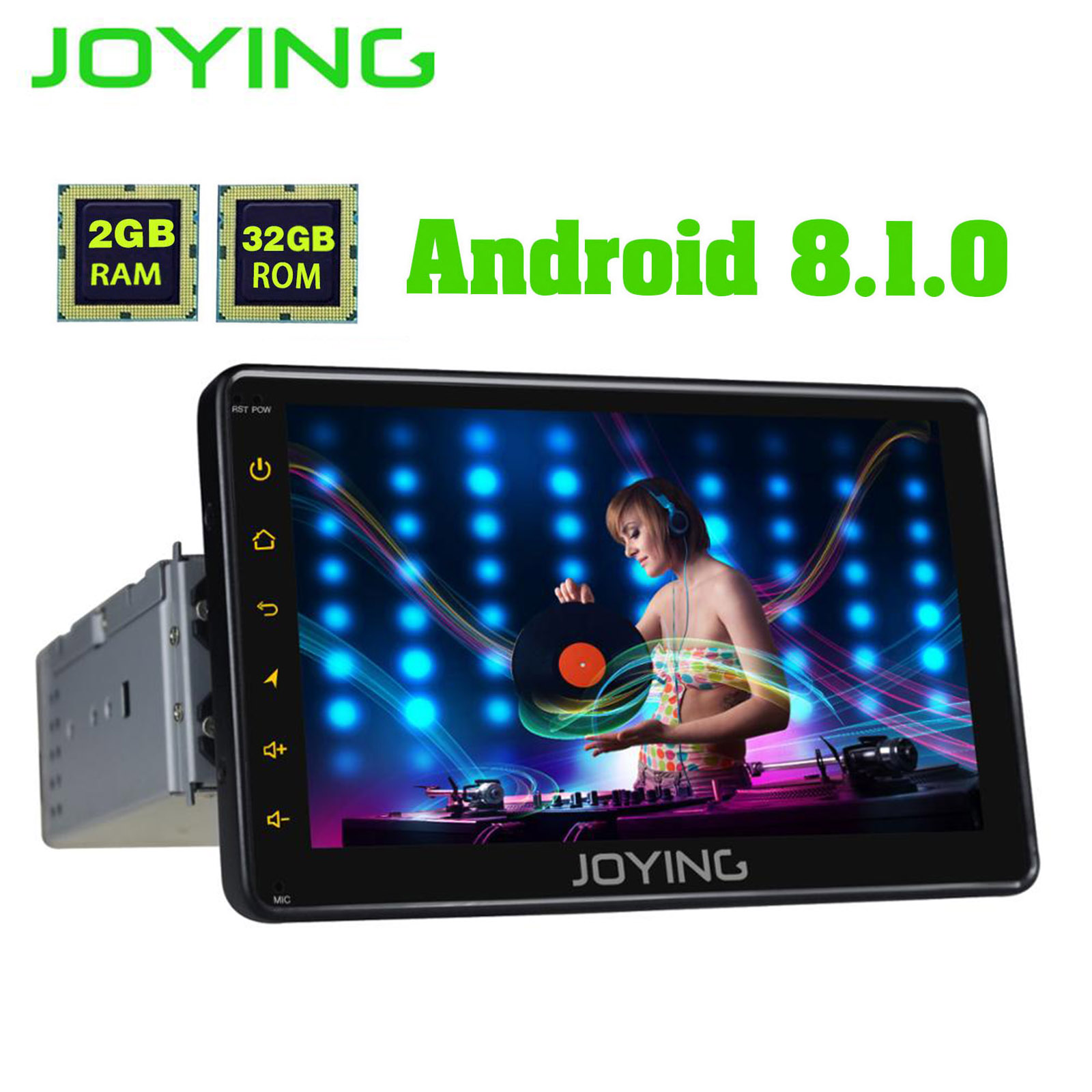 JOYING 1 2GB de RAM Android 8.1 Autoradio Carro Único DIN 7 ''Unidade de Cabeça de Multimídia HD Estéreo Rádio Do Carro jogador Do Bluetooth FM WI-FI DVR