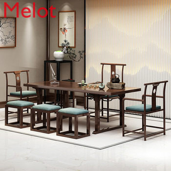 tea New Chinese Style Table-Chair Set Tea Table Solid Wood Tea Table Simple Modern Kung Fu Tea Table Tea Table Tea Table Tea Room