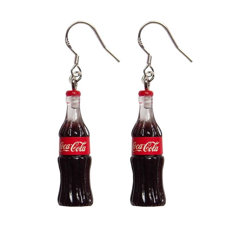 Fashion Creative Simulation Cola Earrings For Korean Minimalist Women Gift Earrings Jewelry Wholesale
