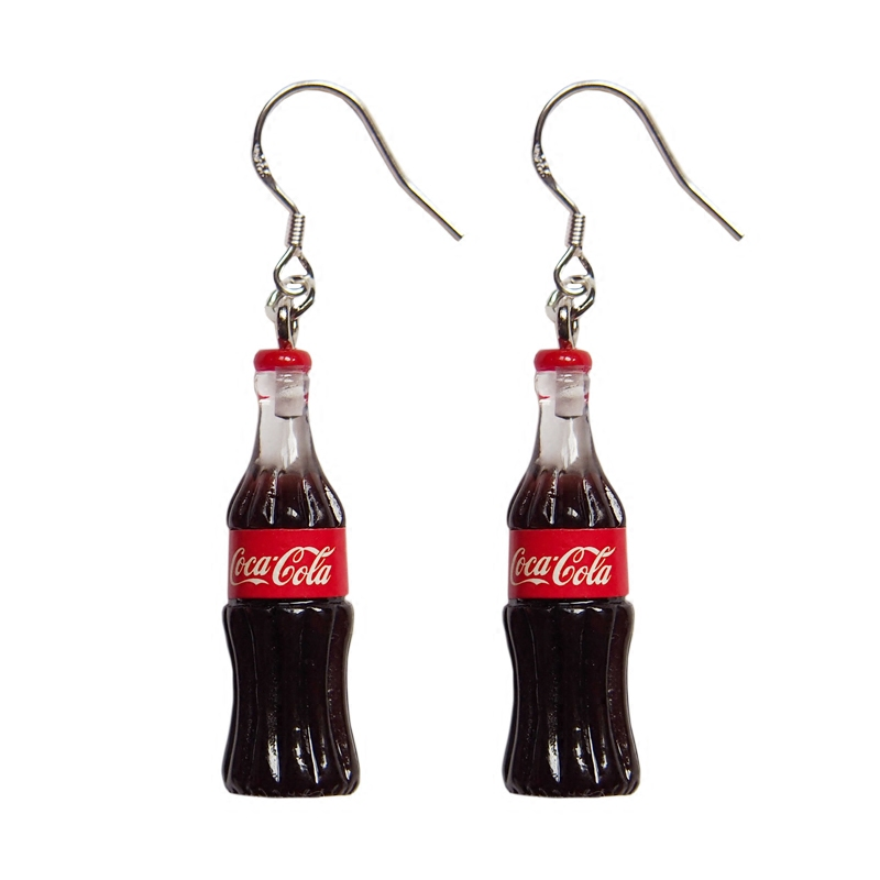 Fashion Creative Simulation Cola earrings for Korean Minimalist Women Gift Earrings Jewelry Wholesale