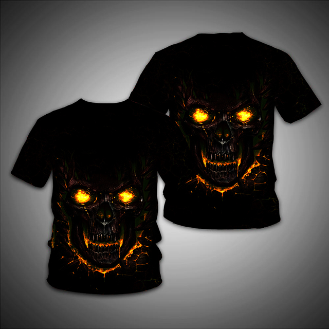 3D SKULL LONG SLEEVE T-SHIRT (4 VARIAN)