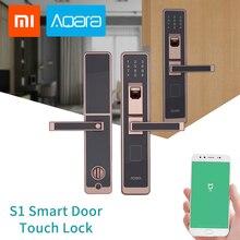 цены Aqara S1 Smart Door Touch Lock ZigBee Connection For Home Security Anti-Peeping Design Support IOS Android Password Fingerprint