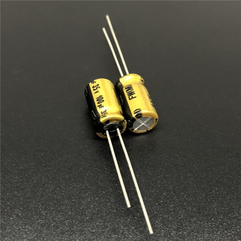 10Pcs/100Pcs 100uF 35V NICHICON FW Series 6.3x11mm 35V100uF HiFi Audio Capacitor