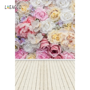 Image 5 - Laeacco Faded Flowers Wall Wooden Floor Vintage Portrait Photography Backdrops Vinyl Photo Backgrounds Baby Birthday Photocall