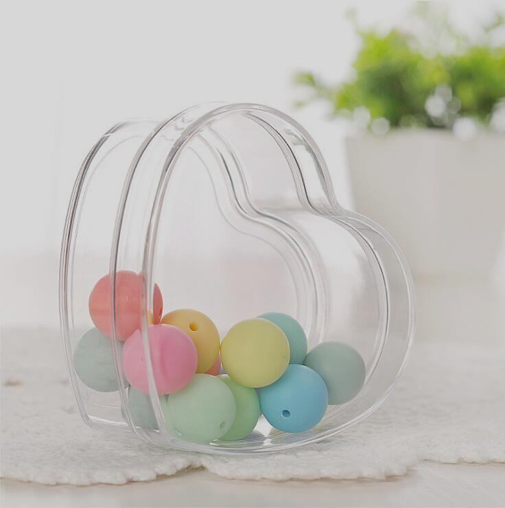 12 pièces de qualité alimentaire clair coeur en plastique boîte à bonbons Transparent faveurs de mariage et cadeaux de mariage boîte à bonbons événement fête fournitures - 2