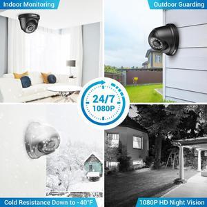 Image 4 - ANNKE 4CH H.265 + 5MP Lite Sistema CCTV DVR 4pcs 2.0MP Visione Notturna di IR di Sicurezza Della Cupola di Telecamere 1080P video di Sorveglianza Kit