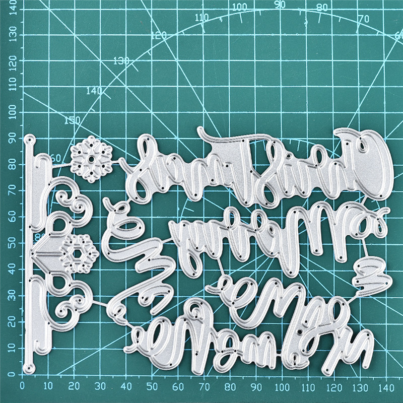 DiyArts Letter Dies Metal Cutting Dies New 2019 Word Craft Dies Scrapbooking Stencil Card Making Embossing Die Cut Decoration in Cutting Dies from Home Garden