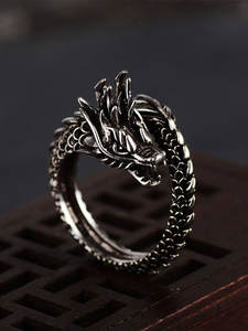 Jewelry Domineering-Accessories Dragon-Ring New Hot Men for Opening Adjustable Retro