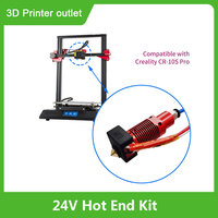 Aibecy 24V montado extrusora caliente Kit de extremo boquilla de 0,4mm Calefacción de cubierta de silicona para Creality CR-10S Pro 3D impresora