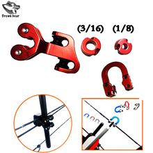 High Quality Aluminum Bow and Arrow Pulley Archery Compound Bow String Accessories set BowString Separator for Archery Hunting 3 8 aluminum archery cable slide compound bow string splitter roller glide cable slide bow string separator for compound bow