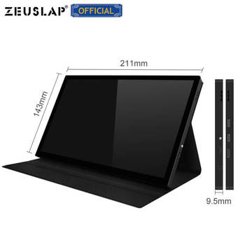 """zeuslap 8.9"""" ips 10 point touch screen usb c hdmi 1920x1200p ntsc 72% portable touch panel camera gaming monitor"""
