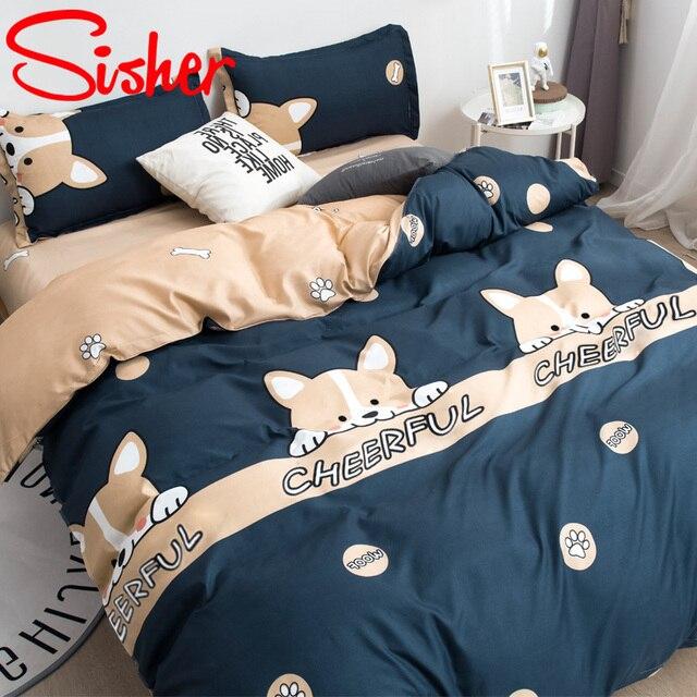 Modern Printed Bedding Set 4 Pcs 3
