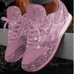 Image 4 - Baskets confortables à maille vulcanisée pour femmes, chaussures de tennis vulcanisées, décontracté, pour dames, à lacets