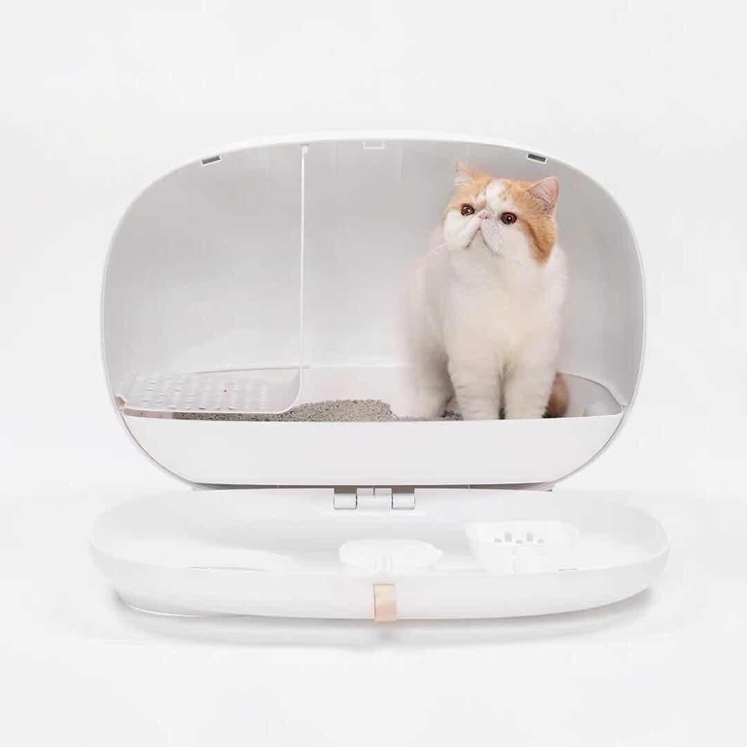 Кошачий Туалет, песочный горшок, полностью герметичный, большой, анти всплеск и запах, ящик, опрокинутый, кошачий навоз, принадлежности для к... - 3
