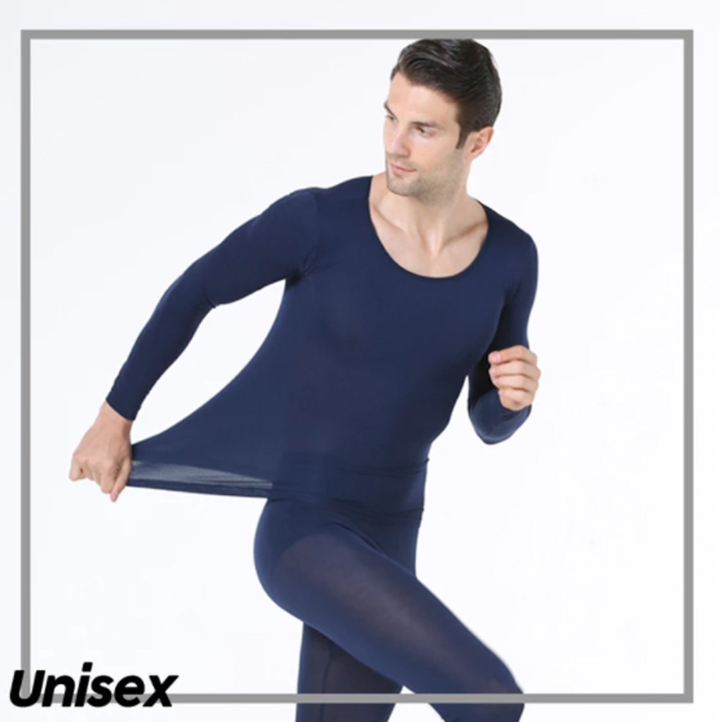Man Underwear Winter Seamless Thermal Inner Wear Set Warm Tops+pants Suit Elastic Thermal Underwear Basic Tops Dropshipping ##5