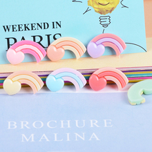 10 Pcs Resin Rainbow Cream Slime Filling Material Accessories Children's Toys Jewelry Earrings Gift Box DIY Accessories