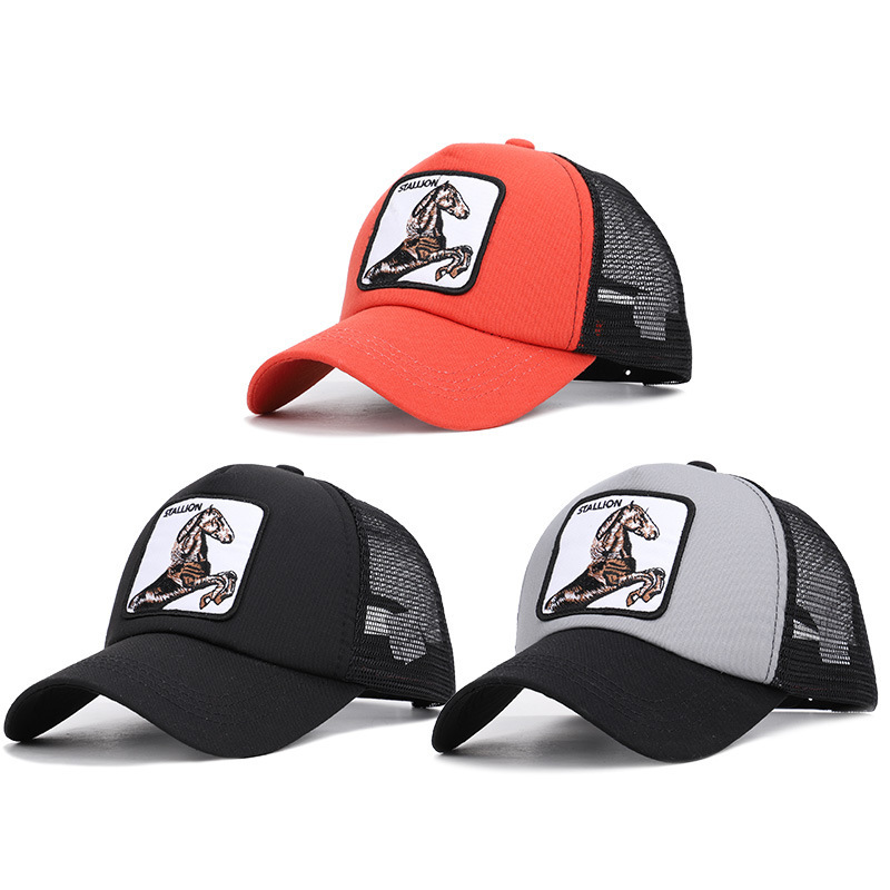 2020 Go Stallion Horse Zhi Animal Series Net Cap Embroidery Baseball Summer Sun Shading Horsetail And