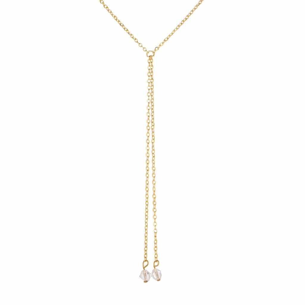 Alliage d'or pendentif rond collier pour femmes Simple femme Long cristal collier en gros pendentif collier ras du cou bijoux