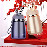 Cute Stainless Steel Thermos Bottle Kids Office Cup School Mugs Small Cup Warm Girl Bottle Water Can Cooler Double AWW9232 3