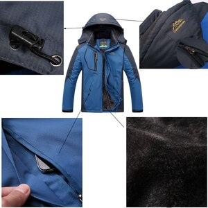Image 4 - TRVLWEGO Winter Ski Suit Men Windproof Waterproof Snowboard Jacket and Pants Outdoor Super Warm 2 in 1 Thermal Fleece Snow Coat
