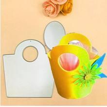Nova caixa de cartão de presente saco de embalagem de metal corte de cabelo para scrapbooking selo/álbum de fotos decorati