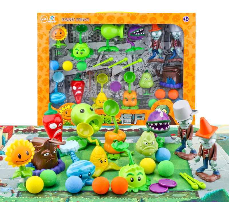 28 Styles Plants Vs Zombies Action Figure For Children,ABS Material  3-7cm PVZ Collection Plant Zombine Figure Toys Gift