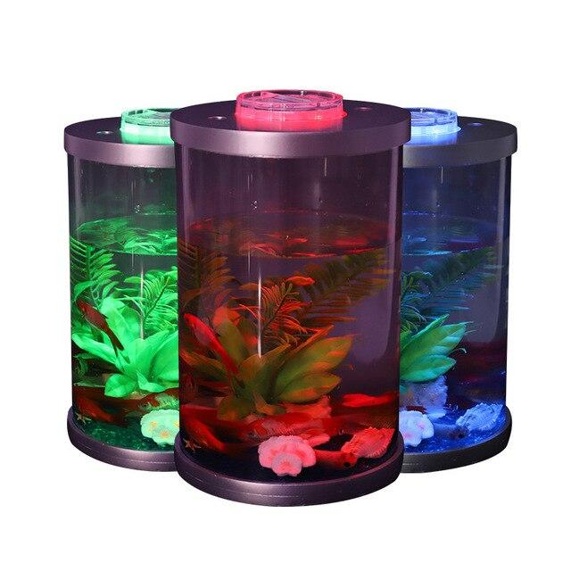 Mini Desktop Lighted Aquarium Fish Tank  1