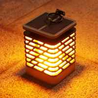 Solar Lights Flicking Flame Outdoor Solar Lantern Lamp Light Solar Powered LED Waterproof Hanging Light for garden yard pathway