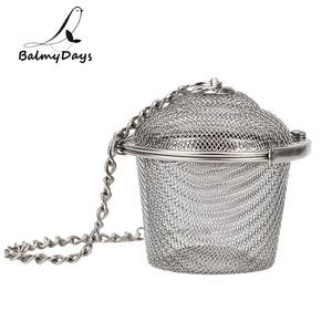 Image 1 - Colador de té de acero inoxidable con bloqueo, Infusor de té, Bola de té de malla, condimento, hierbas, especias, bola, colador, accesorios de cocina