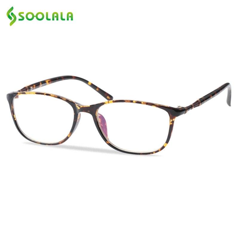 SOOLALA Oversized TR90 Reading Glasses Women Men Full Frame Clear Lens Eyeglasses Frame Ladies Reading Glasses +0.5 0.75 To 4.0